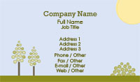 Sunny Day Landscaping Business Card Template